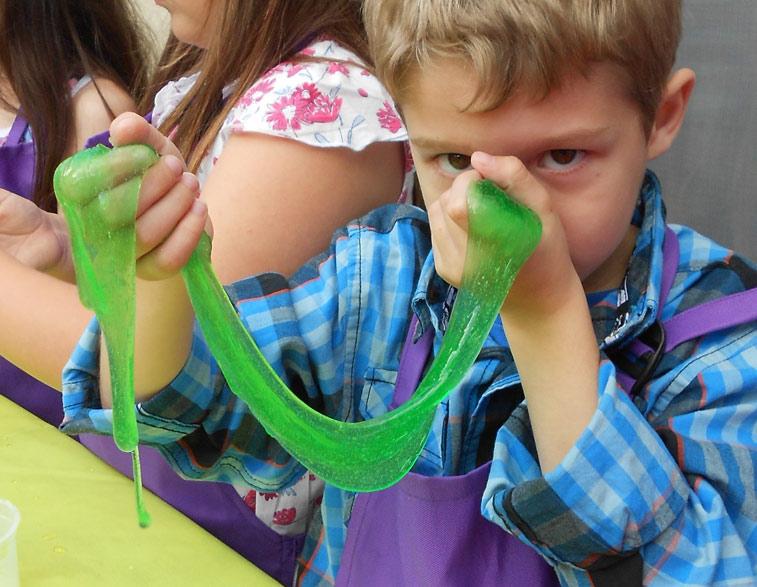 Espacio didáctico cumpleaños slime